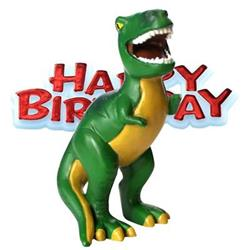 Resin Dinosaur Topper and Happy Birthday Motto