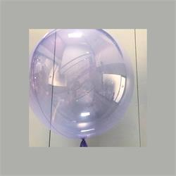 "Clear  orbs 24""-61cm with Soft Purple Tint - Pack 2"