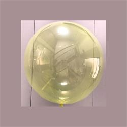"Clear Sphere 24""-61cm with Soft Yellow Tint - Pack 2"