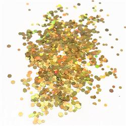 Confetti Hexagonal Metallic Gold