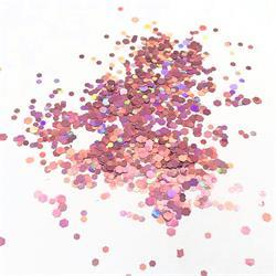 Confetti Hexagonal Metallic Pink