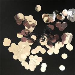 Confetti Metallic Ultra Light 1.2cm circles Silver 250 grams