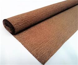 Crepe Paper Brown 50cm x 2.5mtrs