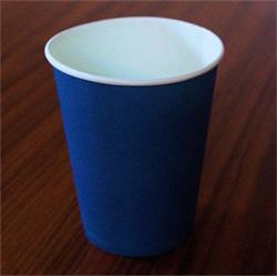 Solid Paper Cups 350ml Dark Blue