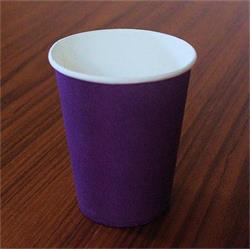 Solid Paper Cups 350ml Purple