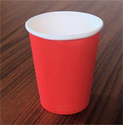 Solid Paper Cups 350ml Watermelon Red