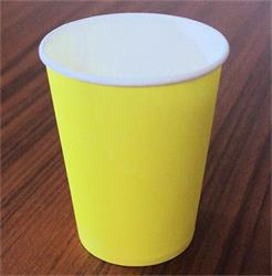 Solid Paper Cups 350m Icy Yellow