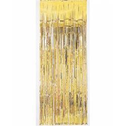 Door Curtain Metallic Gold. 100cm x 200cm