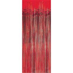 Door Curtain Metallic Red 100cm x 200cm