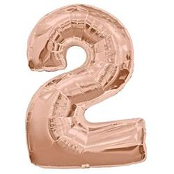 Number 2 Rose Gold 82cm  Air fill only