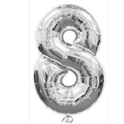Number 8 Silver 82cm Air fill only