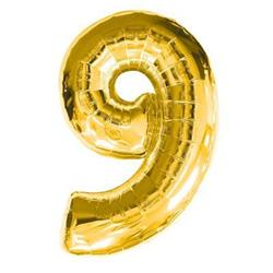 Number 9 Gold 82cm Air fill only