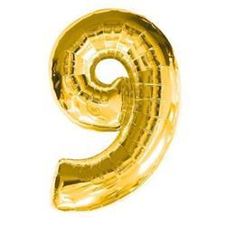 Number 9 Gold 82cm