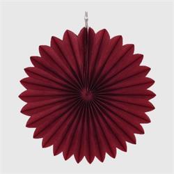"""Paper Fan 12""""-30cm Burgundy"""
