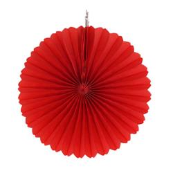 "Paper Fan 12""-30cm Red"