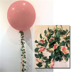 Flower Garland Light Up With Large Roses 2.4mtrs light lasts up to 12 hours