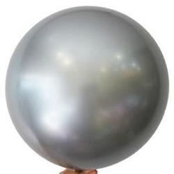 """Bobo Balloon Balls Silver 32"""" 82cm"""