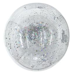 Bobo Balloan Balls Crystal Clear pre-filled 5 gr small Silver confetti  inside 45cm-packaged