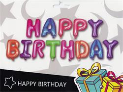 """Happy Birthday Kit Set Multi Coloured 13 x 16"""" 40cm Letters Ribbon/straw Included"""