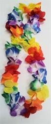 Lei Multi Coloured Deluxe Fabric with extra large flowers