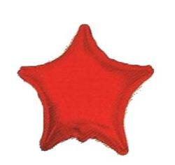 Star Foil Solid Red Packaged 45cm