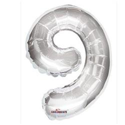 35cm Number 9 Silver with self sealing valve