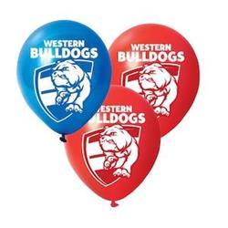 AFL Western Bulldogs Balloons