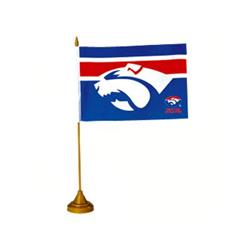 AFL Western Bulldogs Flag Desk