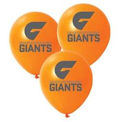 AFL GWS Giants Balloons