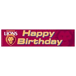 AFL Brisbane Birthday Banner