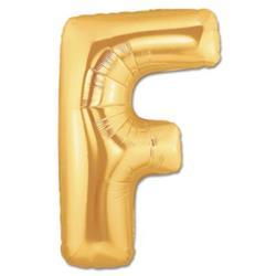 LETTER F 100cm Gold