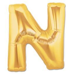 LETTER N 100cm Gold