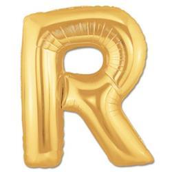 LETTER R 100cm Gold