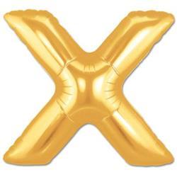 LETTER X 100cm Gold