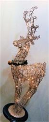 Champagne Reindeer LED 35
