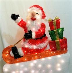 Tinsel Skiing Santa MC84 LED