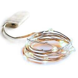 LED String Lights wth 20 cool  lights on 2mtr Silver wire