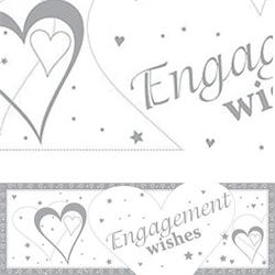 Giant Banner Engagement Wishes 50 x 152cm