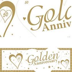 Giant Banner Golden Anniversary 50 x 152cm