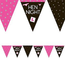 Paper Flag Bunting Hen Night 3.7mtrs 11 Flags