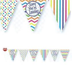 Paper Flag Bunting Chevron Stripe Sorry You're Leaving