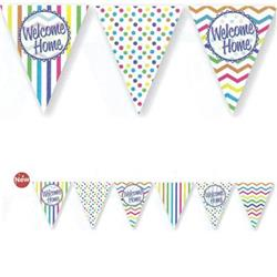 Paper Flag Bunting Chevron Stripe Welcome Home