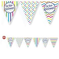 Paper Flag Bunting Chevron Stripe On Your Retirement