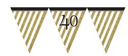 Paper Flag Bunting Black & Gold 40