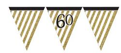 Paper Flag Bunting Black & Gold 60
