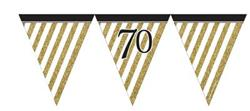 Paper Flag Bunting Black & Gold 70