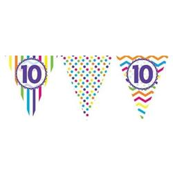 Paper Flag Bunting Chevron Stripe 10th Birthday