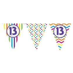 Paper Flag Bunting Chevron Stripe 13th Birthday