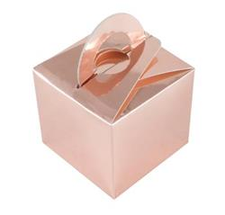 Balloon Weight or Gift Box Rose Gold 5.5cm high by 6.2cm square. Add your own weight
