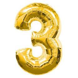 Number 3 95cm Gold